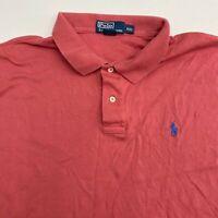 Polo Ralph Lauren Polo Shirt Mens 2XL XXL Salmon Short Sleeve 100% Cotton Hi Low