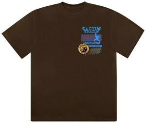 Travis Scott Cactus Jack Trials Assn Logo Tee Men's T-shirt Brown size L street