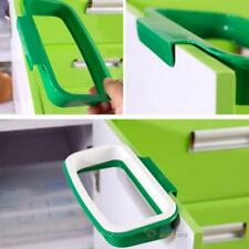 Portable Plastic Door Garbage Trash Bag Bracket Rack Hanging Holder Kitchen Tool