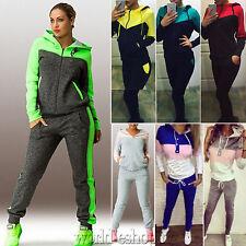 2Pcs Womens Tracksuit Hoodies Sweatshirt Pants Set Casual Sport Wear Sweat Suit