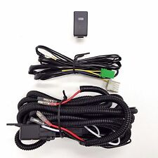 H3 12V 30A Fog Light Wiring Harness Relay Kit ON/OFF LED Switch 2 Plugs Wire