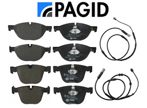 Front Brake Pads Rear Brake Pads Set OEM Pagid + Sensors BMW 740i 750i xDrive