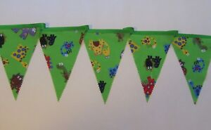 Dinosaur Bunting Party Green  Decor Nursery Unisex Birthday Personalise
