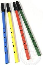 Classic Tin Penny Whistle Flute 6 Hole Irish Blue Green Red Yellow by Schylling
