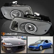 For 1992-1995 Honda Civic 2Dr/3Dr JDM Clear Bumper Fog Lights+Switch