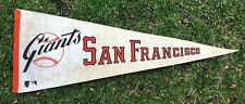 """Vtg 1970's San Francisco Giants Felt Pennant 30"""" Flag MLB Baseball"""