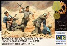 MB Master Box Soviet marines German infantry hand to hand figuras 1:24 kit 35152
