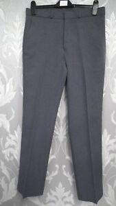 """Mens Classic Trousers in a Grey/Blue W34 L31"""""""