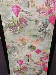 Asian Fusion Lanterns/ Multi Textured Wallpaper