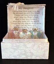 Daughter special poem Birthday gift 3 Crystal Angels in personalised Unusual #8