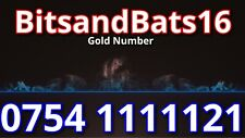 Gold Mobile Phone Number Exclusive Diamond Sim Card VIP 0754 11111 21 giffgaff *