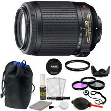 Nikon AF-S DX NIKKOR 55-200MM f/4-5.6G ED VR II Zoom Lens + 52mm Accessory Kit