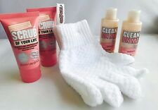 Soap & Glory Exfoliation Set ~ SCRUB OF YOUR LIFE & CLEAN ON ME Plus BONUS!!