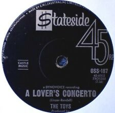 """THE TOYS-A LOVER'S CONCERTO/THIS NIGHT """"RARE OZ"""" 45 RPM"""