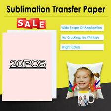 20PCS A4 Heat Transfer T-Shirt Laser/Inkjet Iron-On Paper For Dark/Light Fabric