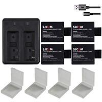 4x Original 900mAh Li-ion Battery + Dual Charger For SJCAM SJ5000+ SJ4000 Camera