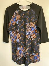 LuLaRoe Floral Printed 3/4 Sleeve Top. New Without Tags. Size S.