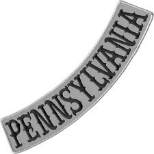 VEGASBEE® PENNSYLVANIA REFLECTIVE EMBROIDERED IRON-ON PATCH LOW ROCKER 13""
