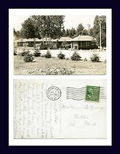 MICHIGAN MANISTIQUE BLUE SPRUCE CABINS 1 JULY 1947 MRS. MINER De YOUNG OF HOLTON