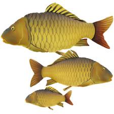 Gaby Medium Common Carp Fish Pillow cushion 61cm Novelty Fishermans Xmas Present