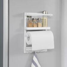SoBuy®  Regal für Kühlschrank mit Magnetleiste, Hängeregal weiß, FRG247-K-W