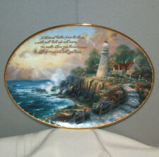 Bradford Exchange The Light Of Peace 1st Thomas Kinkade 1997 Collector Plate