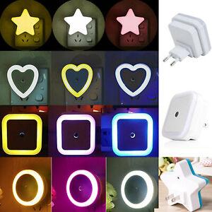 Plug-in Auto Light Sensor Control LED Night Light Lamp For Bedroom Kitchen Decor