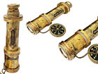 """Nautical Handheld 14"""" Inches Brass Telescope Home Décor Pirate Boat Toy Gift"""