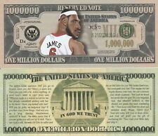 LeBron James Caricature Million Dollar Tract Fun Money Novelty Note +FREE SLEEVE
