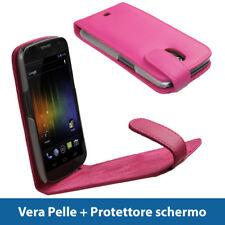 Rosa Vera Pelle Custodia per Samsung Galaxy Nexus i9250 Case Cover Protezione