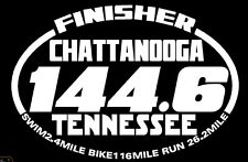 2018 any year Chattanooga Tennessee Ironman Triathlon Finisher Decal Sticker