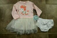 NEW Nannette Baby Toddler Girls Size 24 Mo 2 Piece Pink Poodle Dress Outfit Set