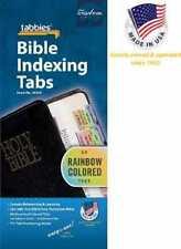 Bible Indexing Tabs - Tabbies - Rainbow Old & New Testament