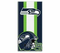 "NFL Seattle Seahawks Logo Cotton Beach Towel 30"" x 60"" Brand New Zone Read"