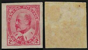 Scott 90a: 2c King Edward VII IMPERF, single, VF-H - cat $30.00
