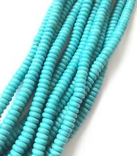 6mm Rondelle Blue Turquoise Gemstone beads (155) Jewelry Supplies