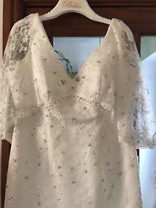 Charlotte Balbier Garbo Vintage Wedding Dress Size 14 1920 Great Gatsby Art Deco