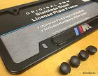 Genuine BMW Stainless Steel Black M License Plate Frame X1 X3 X4 X5 X6 E53 E70