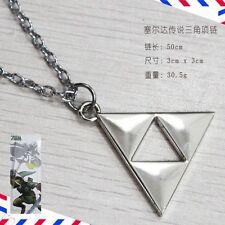 The Legend of Zelda Golden Power Triforce LOGO Pendant Necklace silver