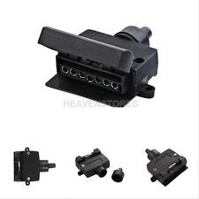 7 PIN ROUND FLAT ADAPTOR FEMALE RECTANGLE CARAVAN TRAILER PART BOAT
