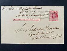 Puerto Rico 1953, Sabana G. Domestic 2ct Post Card - Salvador Morales San German