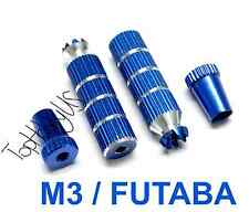 1Set M3 Long Blue Futaba /Spektrum DX6i DX7S DX8 DX9 TX Gimbal Sticks 016-03003A