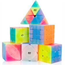 6PCS Qiyi Jelly Speed Cube Bundle Set Puzzle Cube Brain Teaser Toys for Kids
