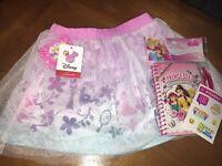 Disney Princess Sz 6 Skirt Nwt Ariel Tangled Jasmine Diary Justice Sticker