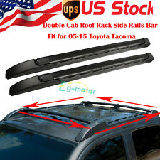 Roof Rack Side Rails Cross Bar Carrier For 2005-2016 Toyota Tacoma Double Cab