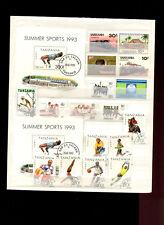 Tanzania Lot 1983-1993 mit Blocks, Motiv Sport Summer Sports