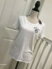 BRAND NEW ABERCROMBIE & FITCH WOMEN'S WHITE CASUAL T-SHIRTS