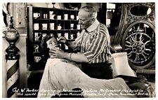 RPPC,Arcadia,CA.Pony Express Museum,Barber Shop,San Gabriel Valley,c.1945-50s
