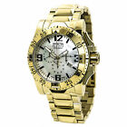 New Invicta Reserve Men Excursion 18k Gold Plated Swiss Made MOP Dial SS Watch