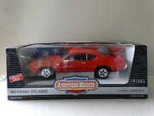 Ertl American Muscle 1969 Pontiac GTO Judge Orange 1:18 Scale Diecast Model Car